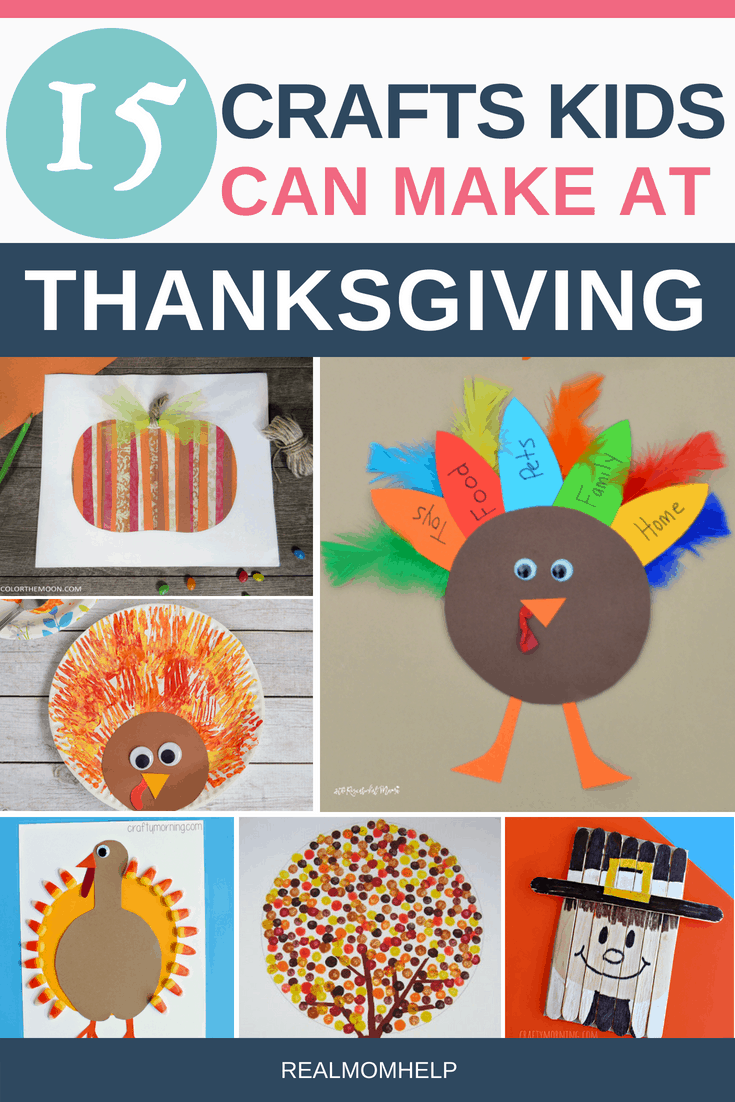 Pictures of thanksgiving crafts for kids to make