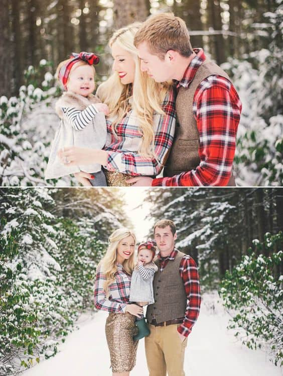 10 adorable christmas family picture ideas you should try for The best short time holiday family pictures ideas