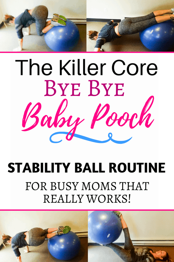 stability ball postpartum workout