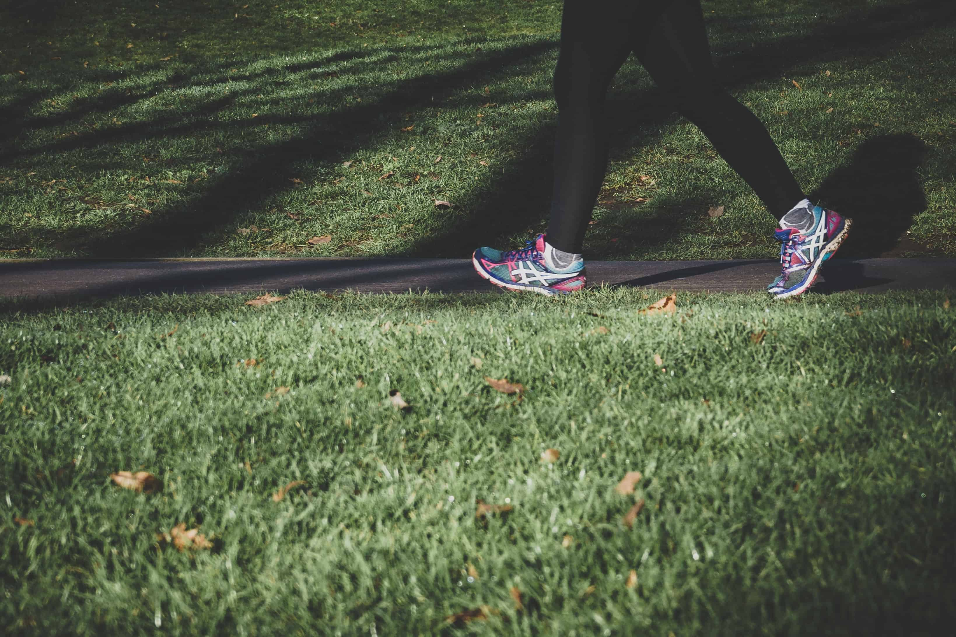 two feet running in the grass, postpartum workouts