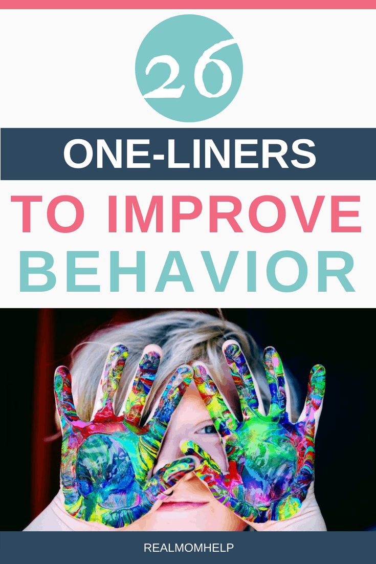 improve child behavior by using one-liners