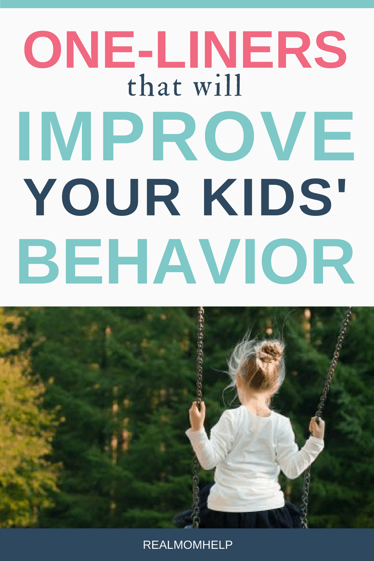 improve child behavior with one-liners