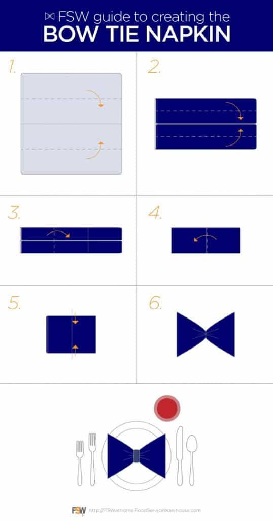 bow tie napkin folding instructions