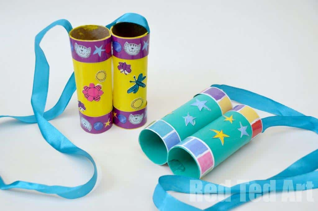 binoculars made of toilet paper