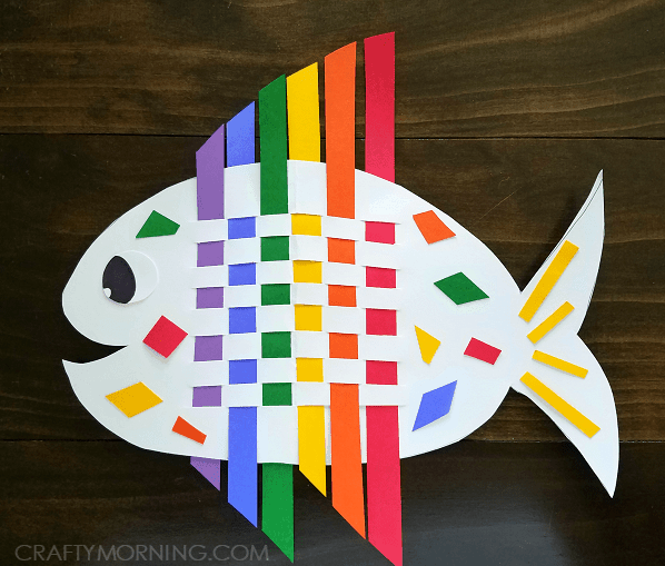 fish made of construction paper