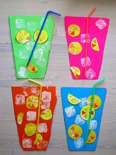 lemonade made out of paper and paint