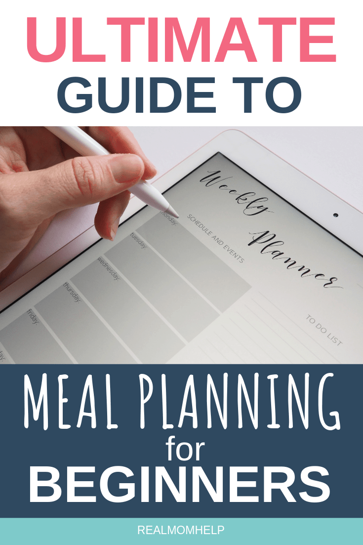 meal planning on iPad